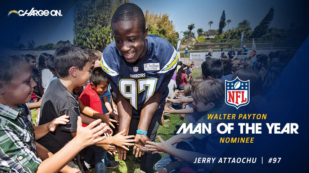 Chargers Nominate Jerry Attaochu For The 2016 Walter